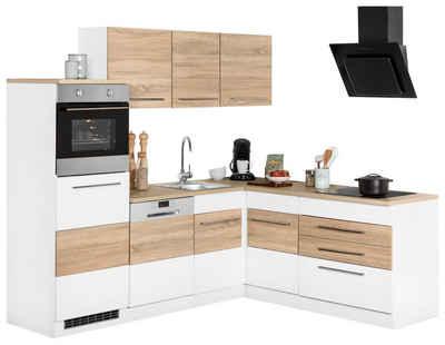 Winkelküche »Trient«, mit E-Geräten, Stellbreite 230 x 190 cm