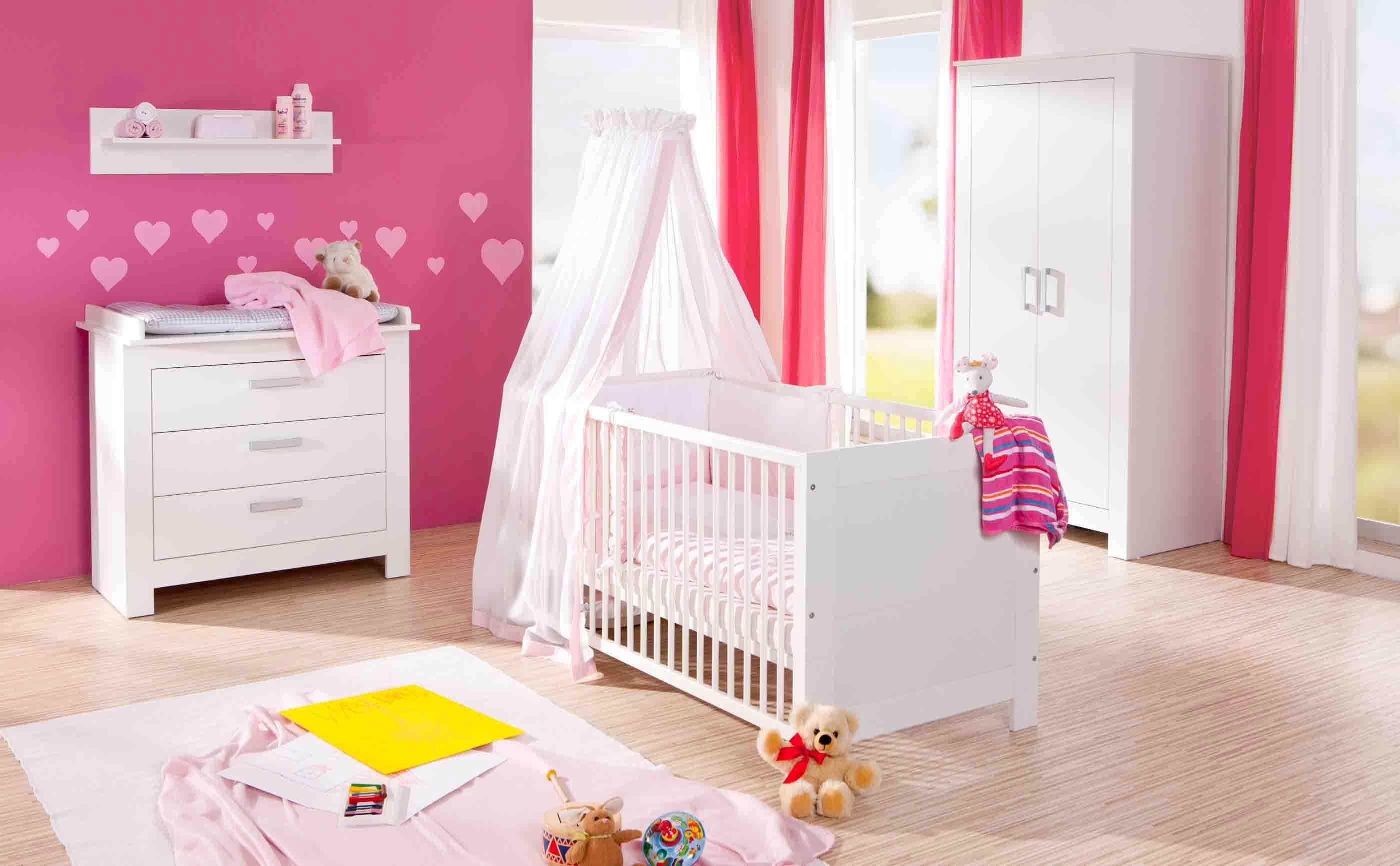 Geuther Babyzimmer Set (3-tlg.) Kinderzimmer mit 3-trg. Schrank, »MARLENE, weiß«