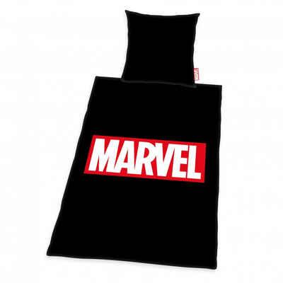 Bettwäsche »Marvel (schwarz)«, Herding