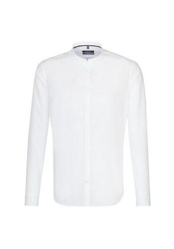 Herren seidensticker Businesshemd Tailored Stehbund-Kragen weiß   04048869396601