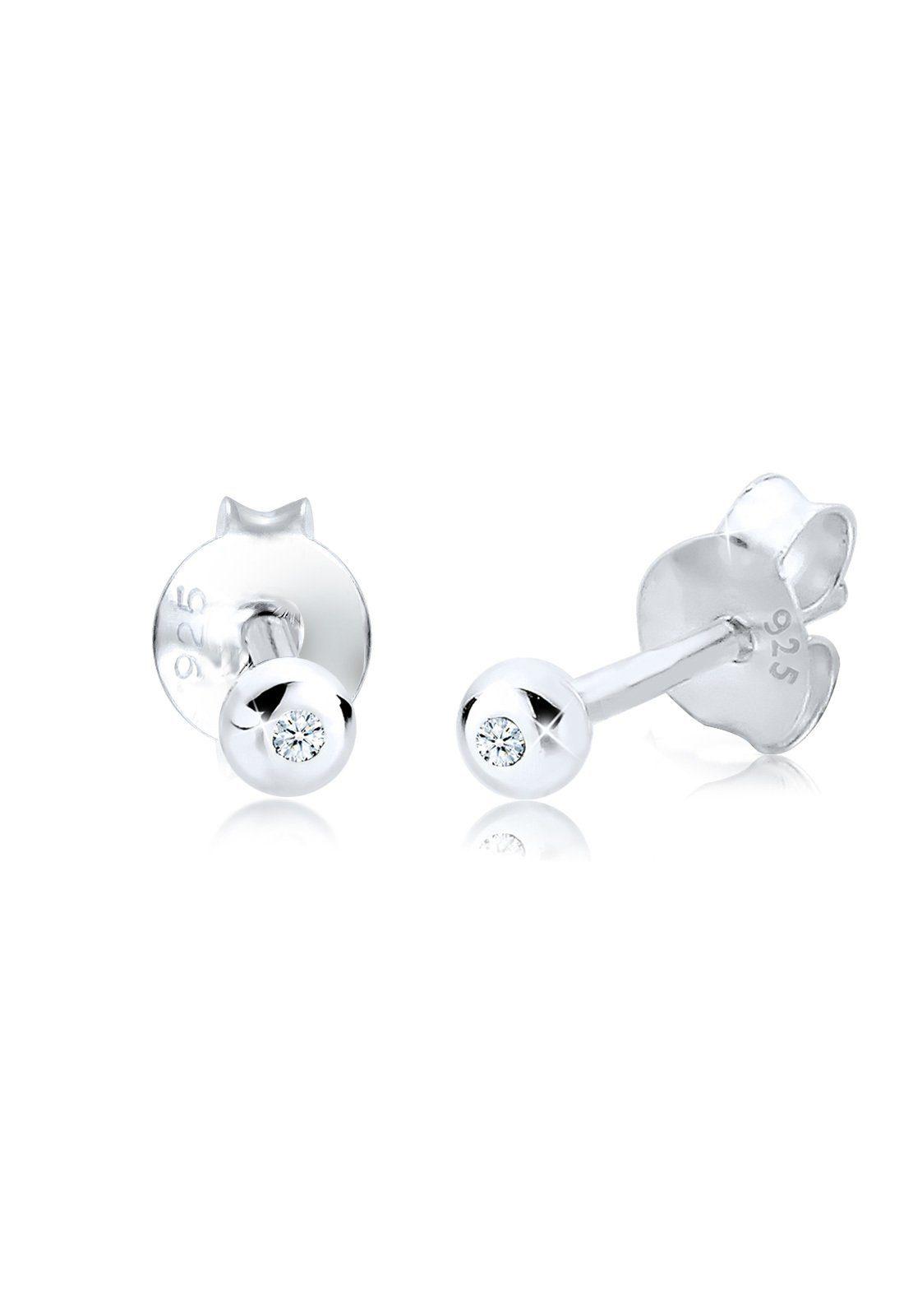 Diamore Paar Ohrstecker »Basic Rund Diamant 0.06 ct. 925 Silber«