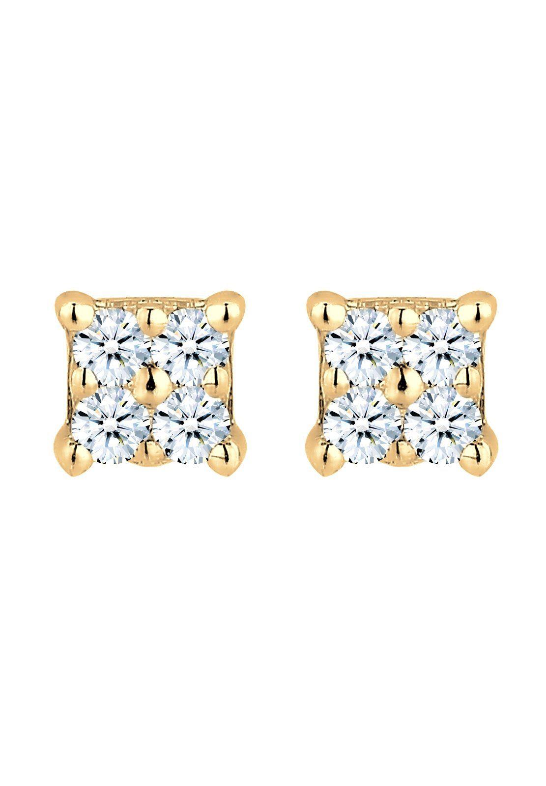 Diamore Ohrringe »Klassisch Elegant Diamant (0.16 ct.) 585 Gelbgold«
