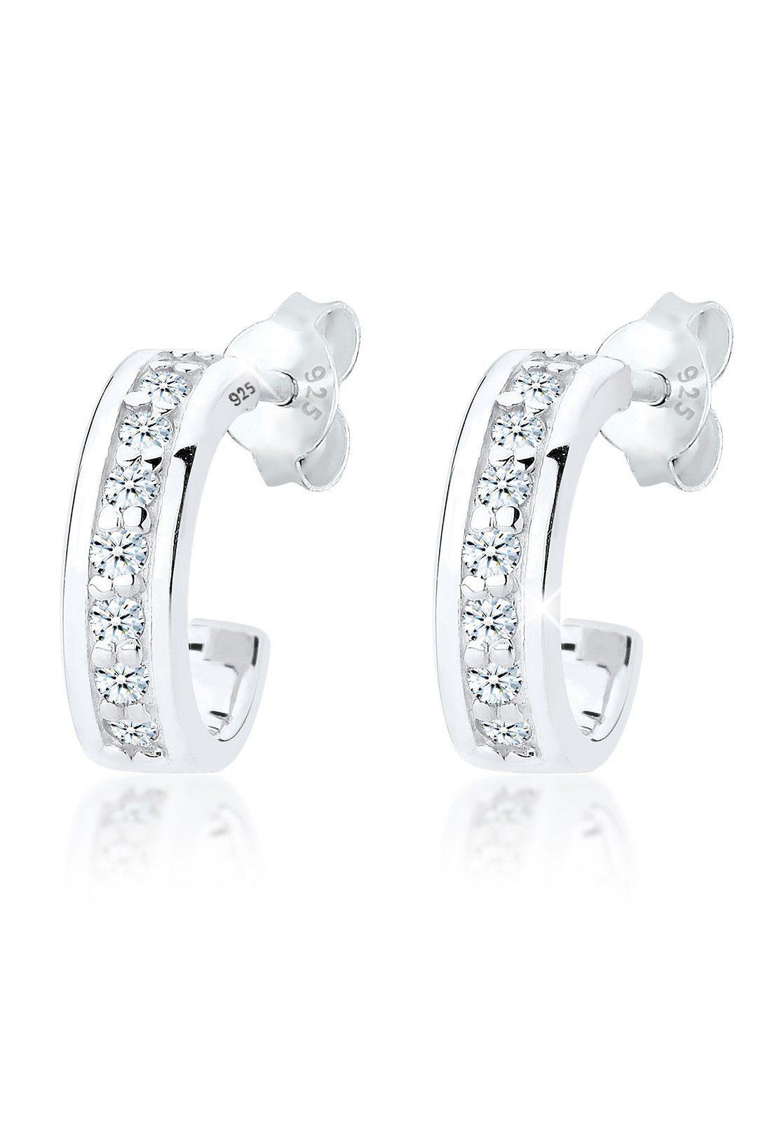 Diamore Paar Creolen »Klassisch Diamant (0.32 ct) 925 Sterling Silber«