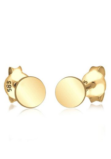Elli Paar Ohrstecker »Kreis Geo Trend Minimal Filigran 585 Gelbgold«