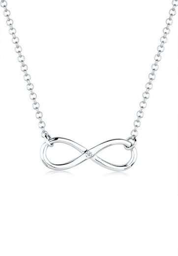 Diamore Collierkettchen »Infinity Pure Diamant (0.03 ct) 925 Silber«