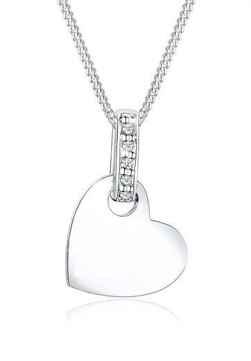 Diamore Collierkettchen »Herz Liebe Diamant (0.05 ct) 925 Silber«