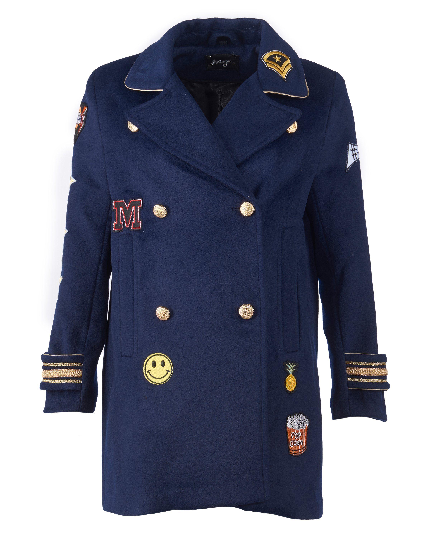MAZE Wollmix-Mantel mit Hemdkragen »Pray«