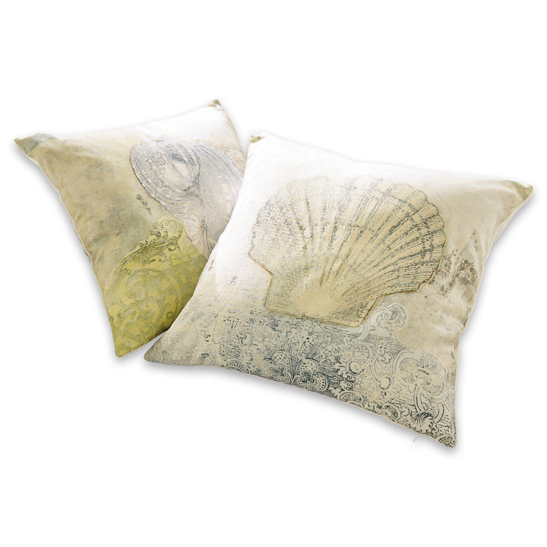 Loberon Kissen 2er Set »Shells«