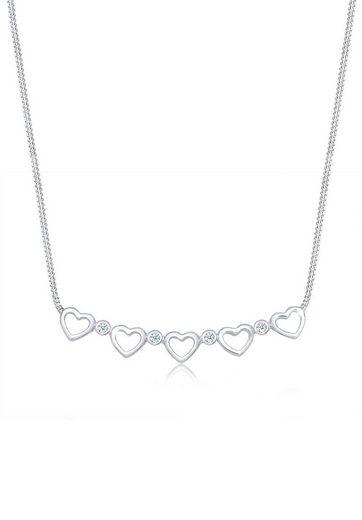 Diamore Collierkettchen »Herz Unendlich Diamant (0.08 ct) 925 Silber«