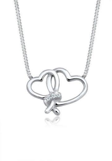 Diamore Collierkettchen »Herz Liebe Diamant (0.06 ct) 925 Silber«