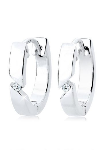 Diamore Paar Creolen »Creolen Basic Diamant (0.04 ct) 925 Silber Pretty«