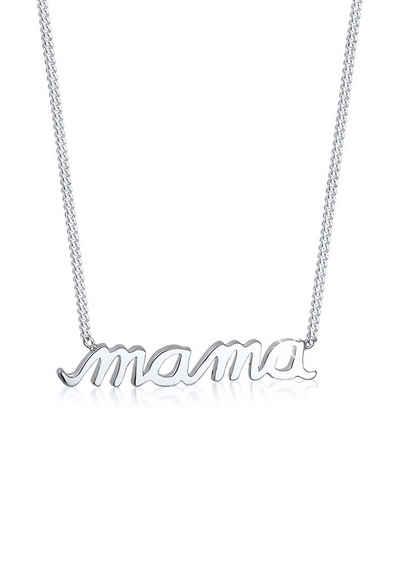 Elli Kette mit Anhänger »Mama Schriftzug Wording Muttertag Liebe 925 Silber«