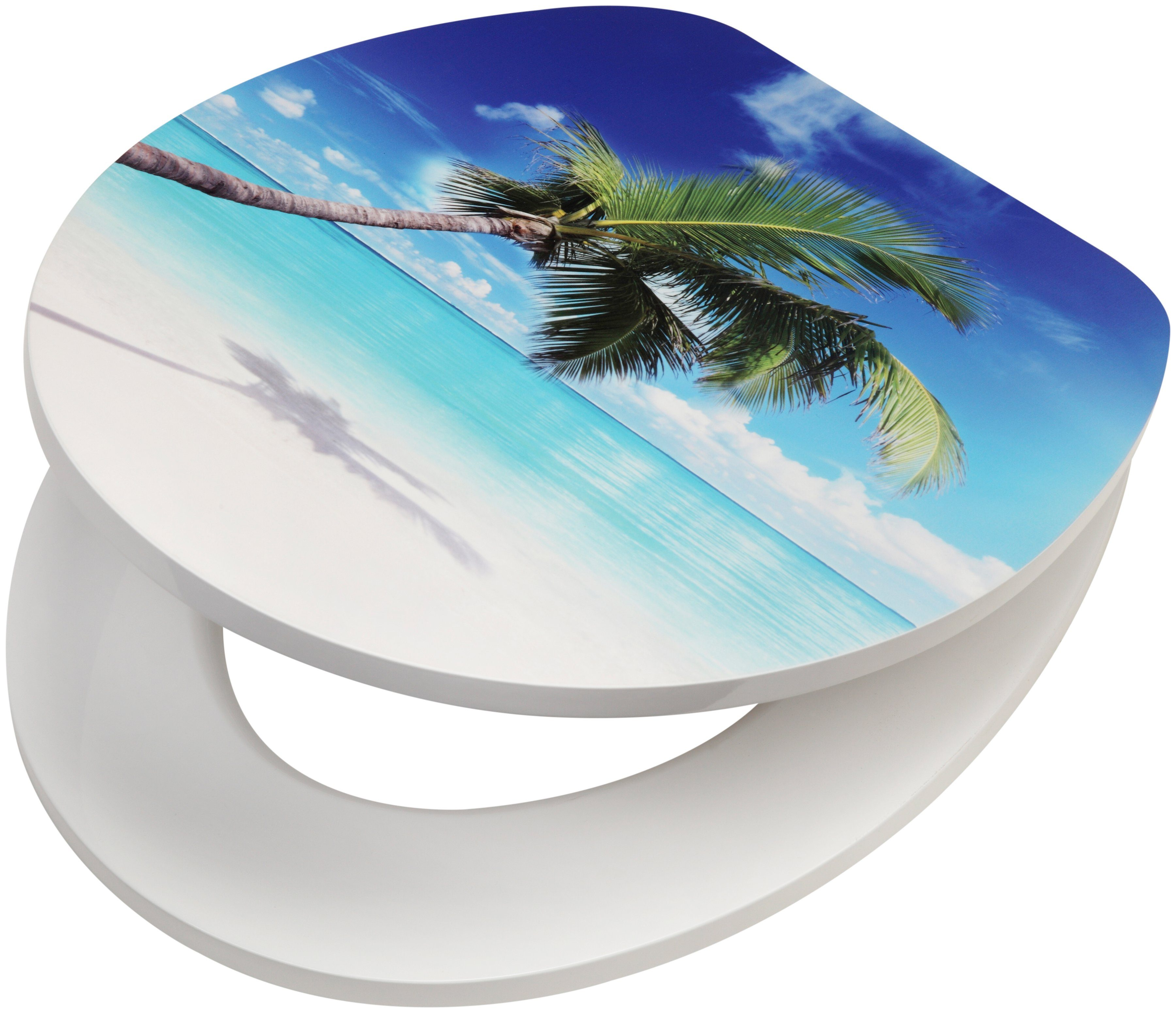 WC-Sitz »Beach«, MDF Toilettensitz mit Absenkautomatik