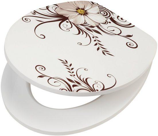 WC-Sitz »Blume«, MDF Toilettensitz mit Absenkautomatik