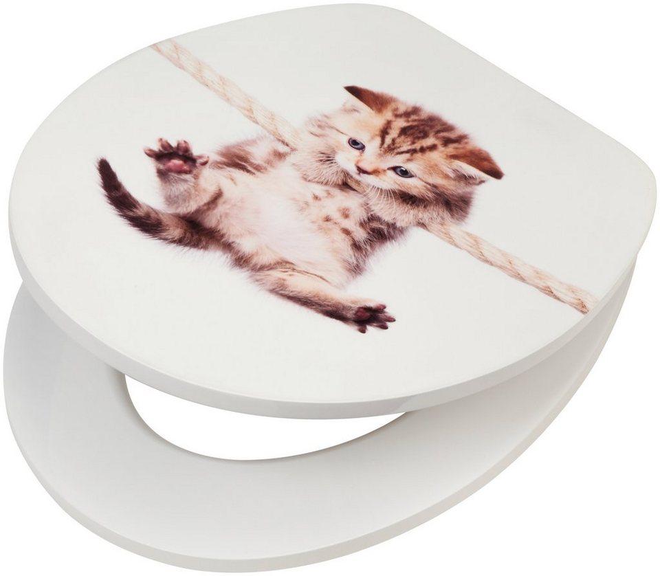 wc sitz katze mdf toilettensitz mit absenkautomatik online kaufen otto. Black Bedroom Furniture Sets. Home Design Ideas