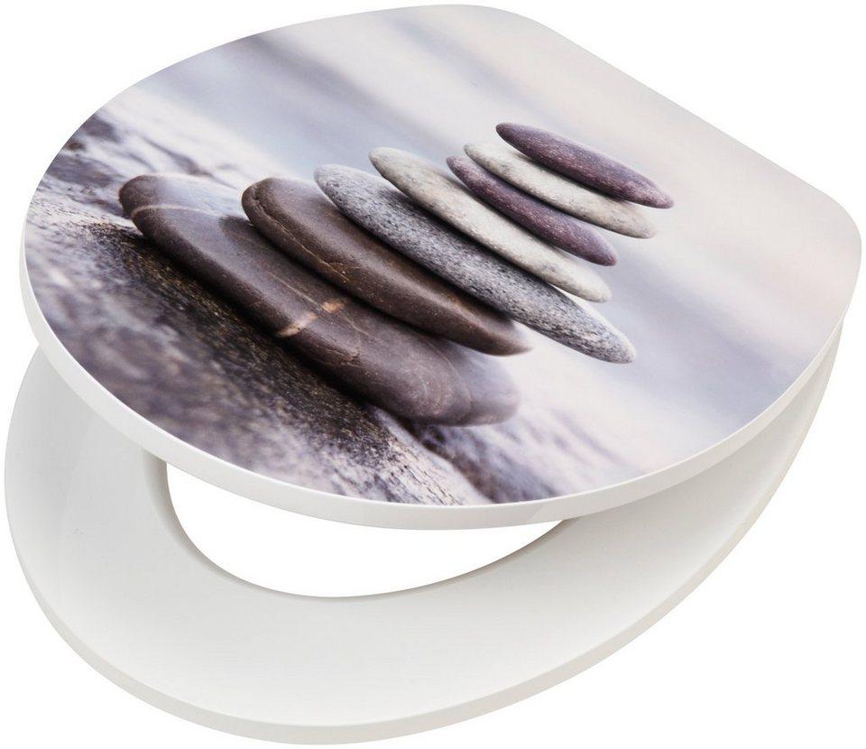 wc sitz steine mdf toilettensitz mit absenkautomatik einfache montage online kaufen otto. Black Bedroom Furniture Sets. Home Design Ideas