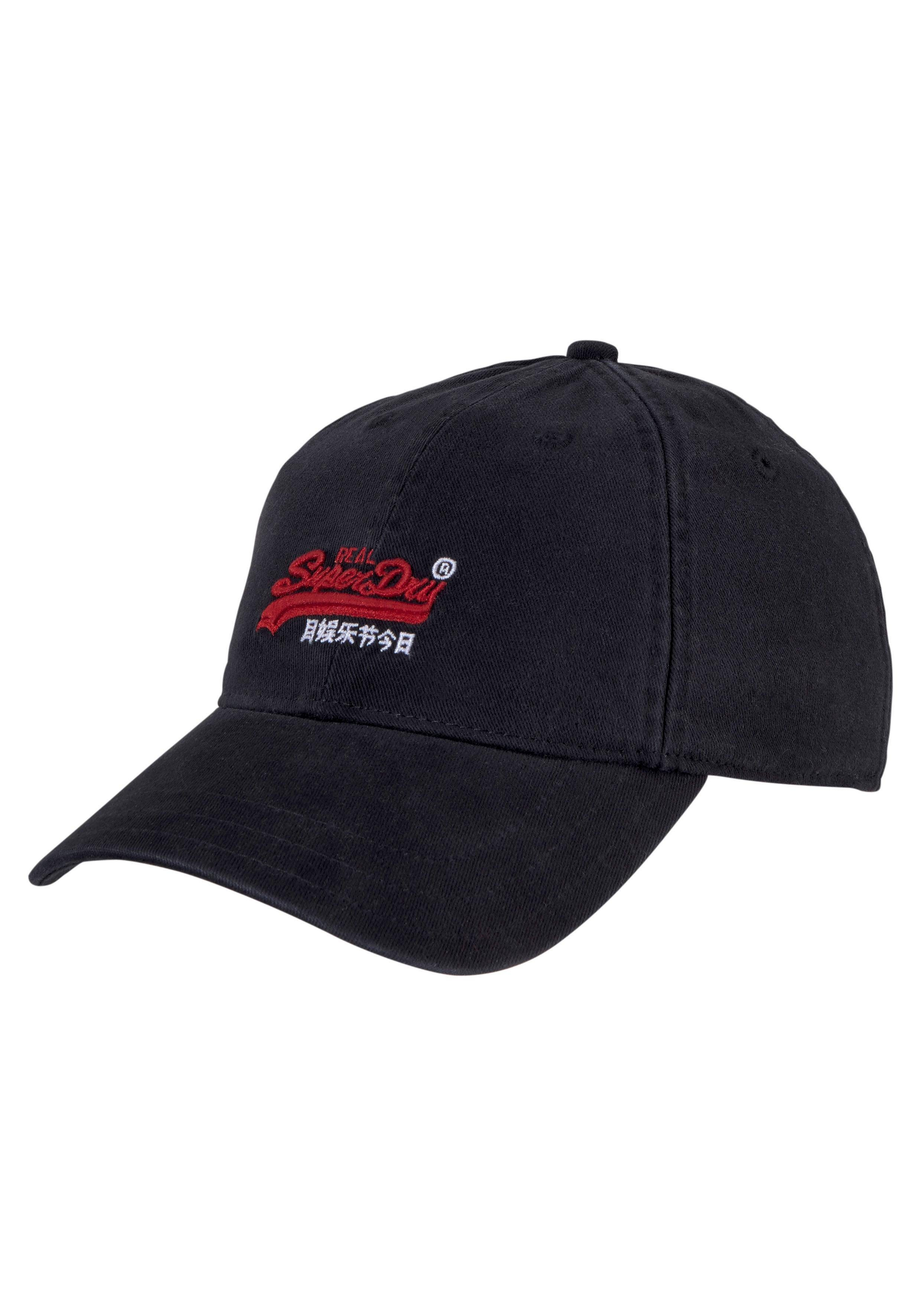 Superdry Baseball Cap Orange Label Twill Cap, Logo Stitching