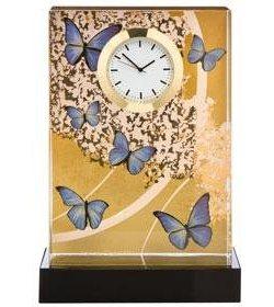 Goebel Tischuhr »Blue Butterflies, 26150631« | Dekoration > Uhren > Standuhren | Goldfarben | Goebel