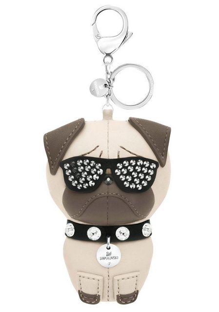 Swarovski Schlüsselanhänger »Hund, Roxie Handtaschen-Charm, 5352888«, mit Swarovski® Kristallen | Accessoires > Schlüsselanhänger | Swarovski