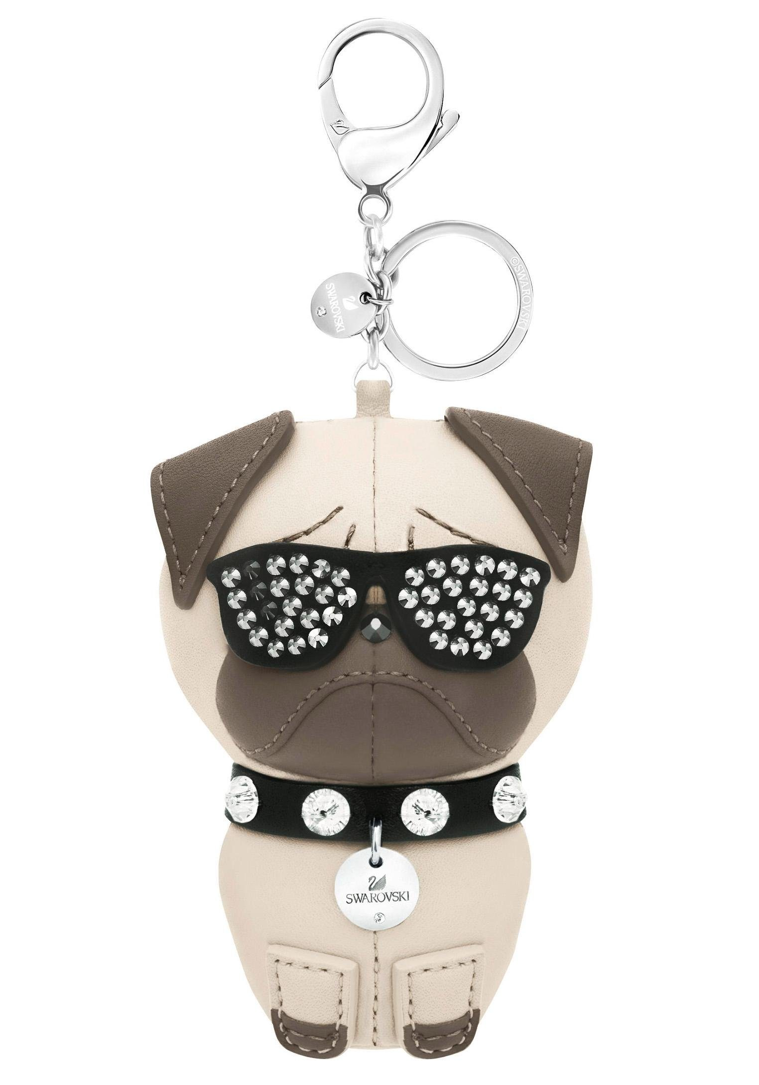 Swarovski Schlüsselanhänger »Hund, Roxie Handtaschen-Charm, 5352888« mit Swarovski® Kristallen