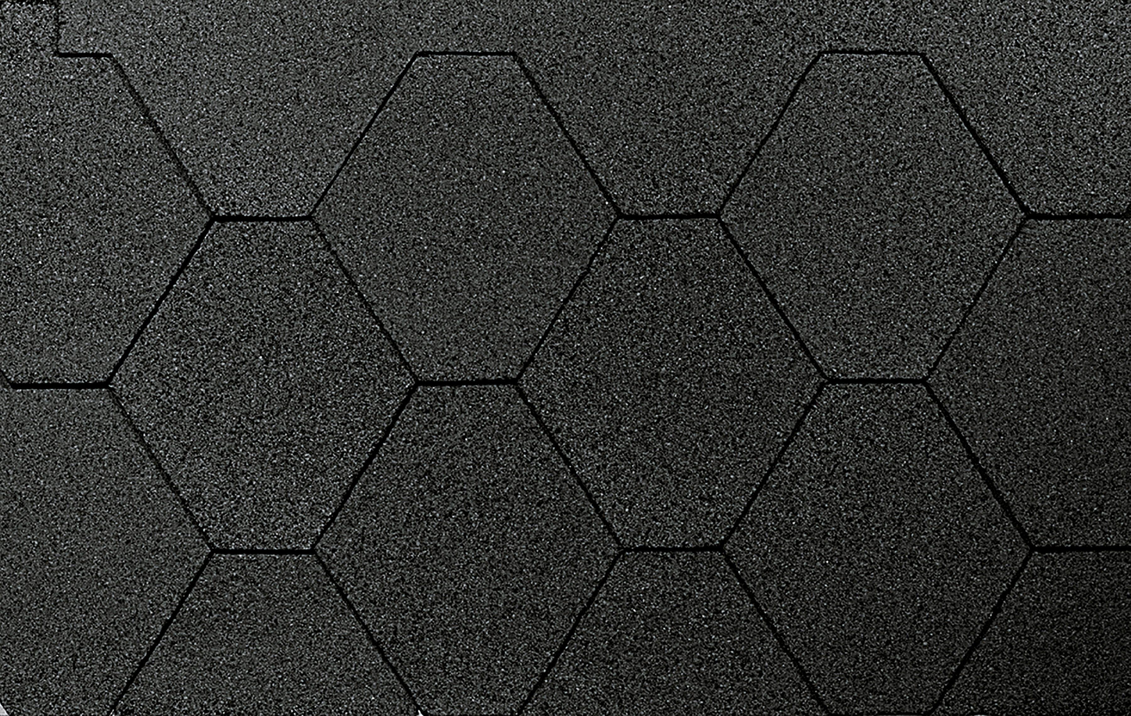 WOLFF Sechseck-Dachschindeln , 3 m², schwarz
