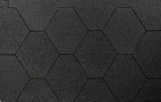 WOLFF FINNHAUS Sechseck-Dachschindeln 3 m², schwarz