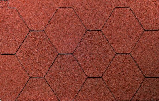 WOLFF FINNHAUS Sechseck-Dachschindeln 3 m², rot