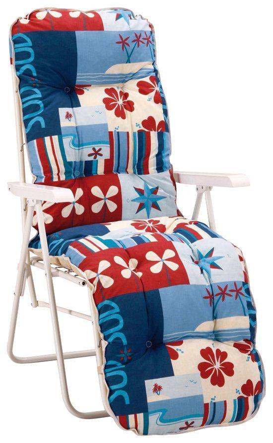 best gartenliege sylt stahl kunststoff inkl auflage mit kunststoffarmlehnen online kaufen. Black Bedroom Furniture Sets. Home Design Ideas