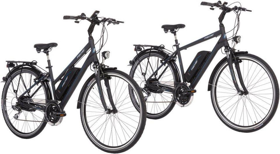 fischer fahrraeder set e bike trekking etd eth 1801 28. Black Bedroom Furniture Sets. Home Design Ideas