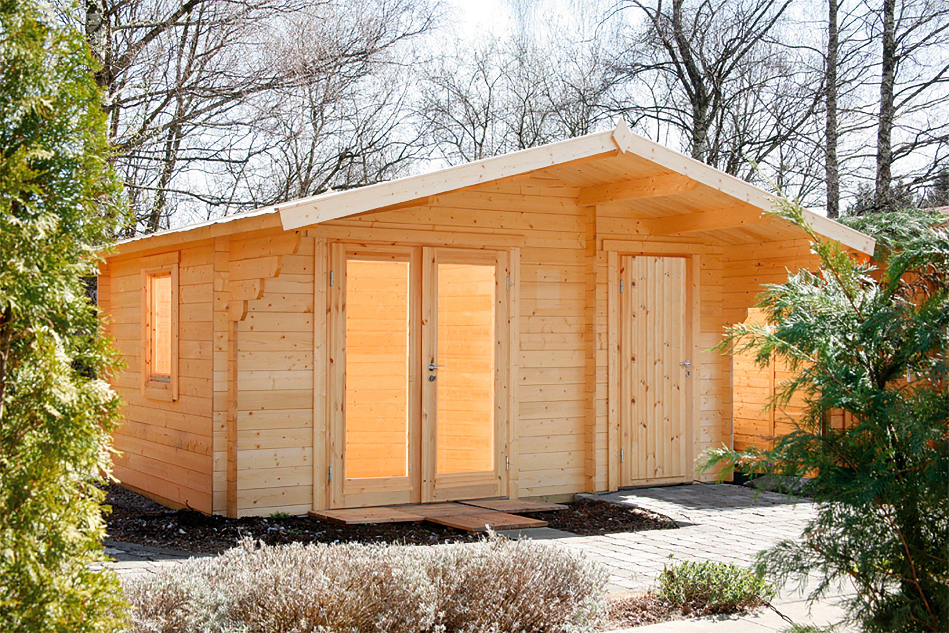 WOLFF Gartenhaus »Caro 34 Modern XL«, BxT: 486x460 cm, inkl. Fußboden, mit 2 Räumen