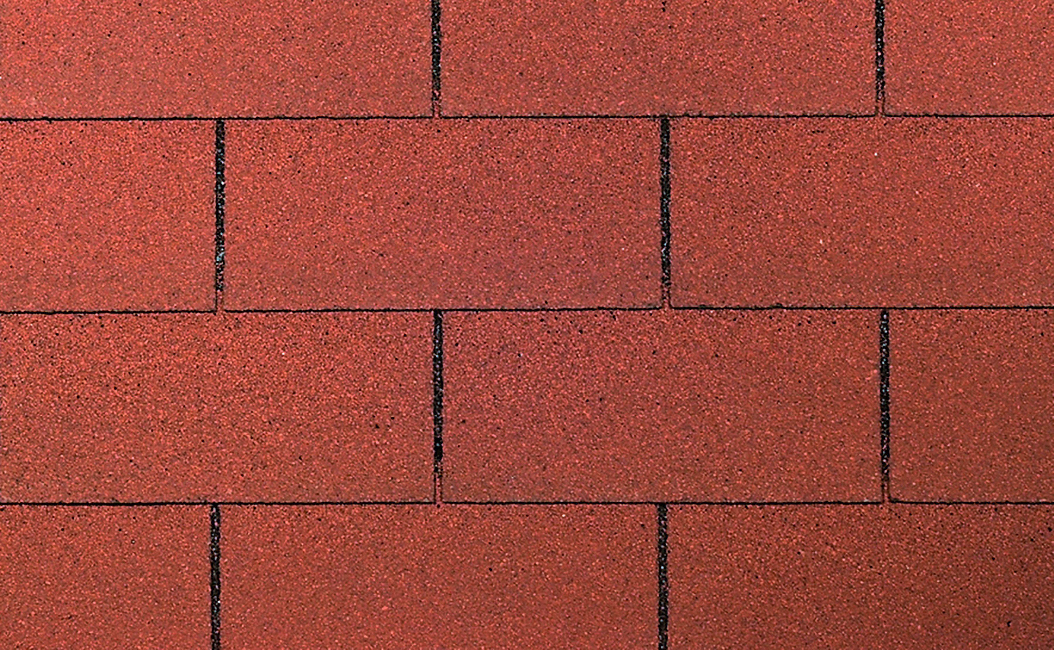WOLFF Rechteck-Dachschindeln , 3 m², rot