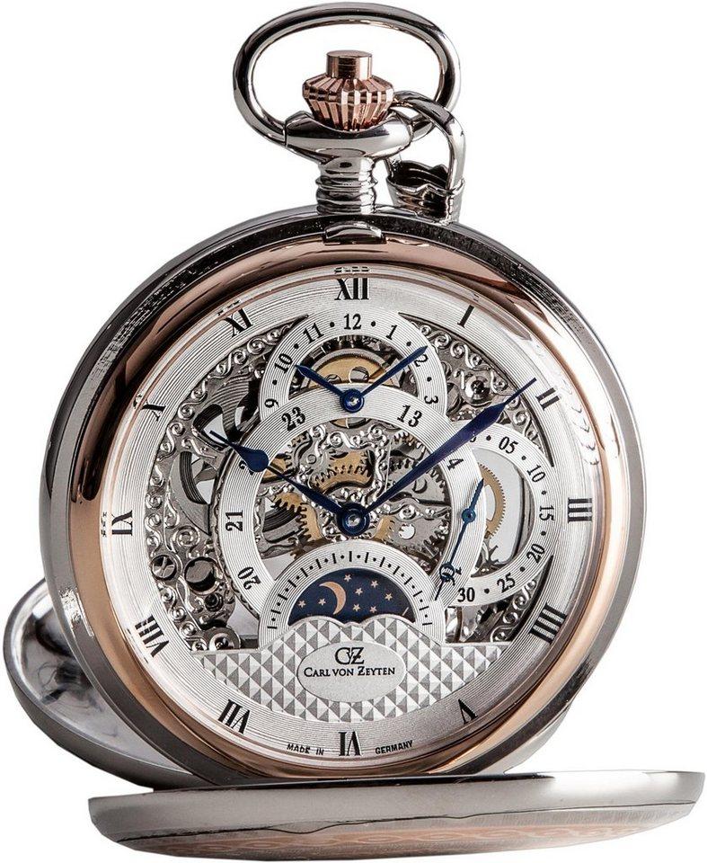 Carl von Zeyten Taschenuhr »Alb, CVZ0040RSL« (Set, 2 tlg., inkl. Kette) Made in Germany | Uhren > Taschenuhren | Carl von Zeyten
