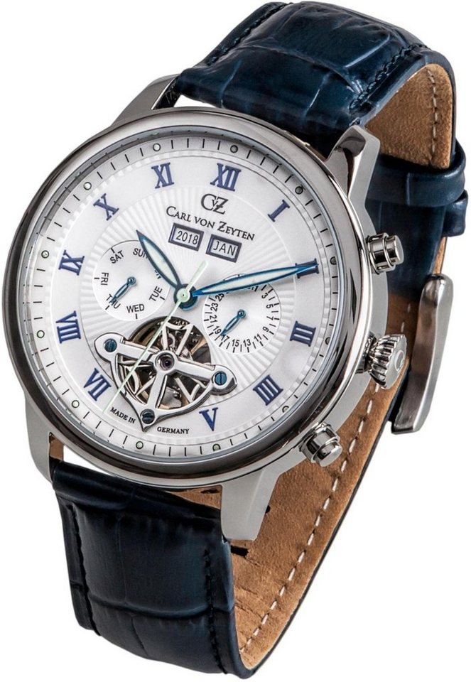 Carl von Zeyten Automatikuhr »Bonndorf, CVZ0053WH« Made in Germany | Uhren > Automatikuhren | Blau | Carl von Zeyten