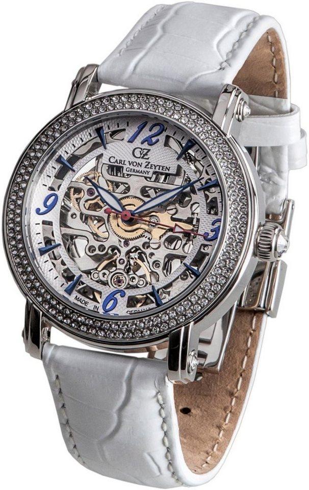 Carl von Zeyten Automatikuhr »Wolfach, CVZ0061WH« Made in Germany | Uhren > Automatikuhren | Weiß | Carl von Zeyten