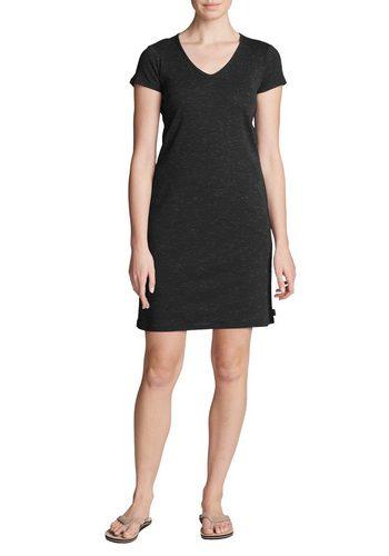 Damen Eddie Bauer Sweatkleid Jet Set T-Shirt Kleid schwarz | 04057682362557