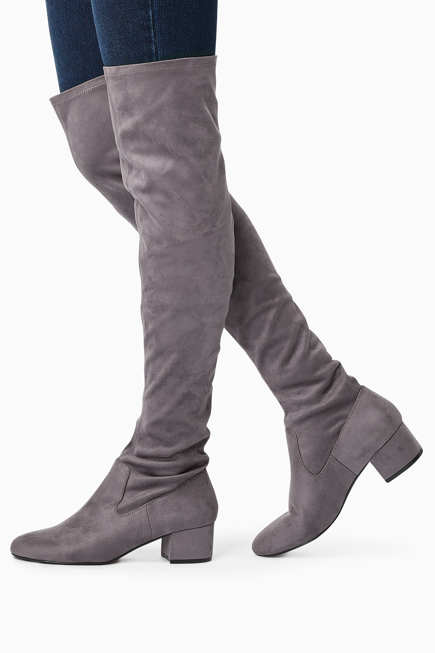 Next Overknee-Sock-Boots online kaufen  Grey