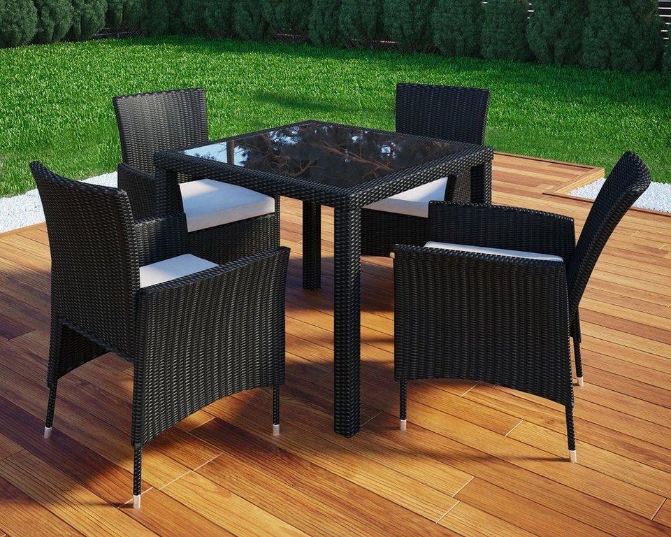 Vcm Rattan Gartenmobel Set 90x90 Tisch 90x90 Cm Stuhle Incl
