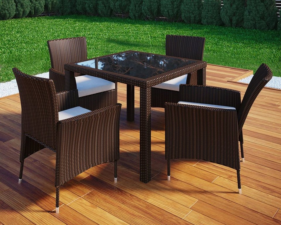 vcm rattan gartenm bel set 90x90 online kaufen otto. Black Bedroom Furniture Sets. Home Design Ideas