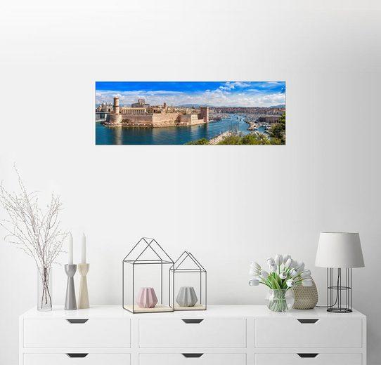 Posterlounge Wandbild »Alter Hafen in Marseille«