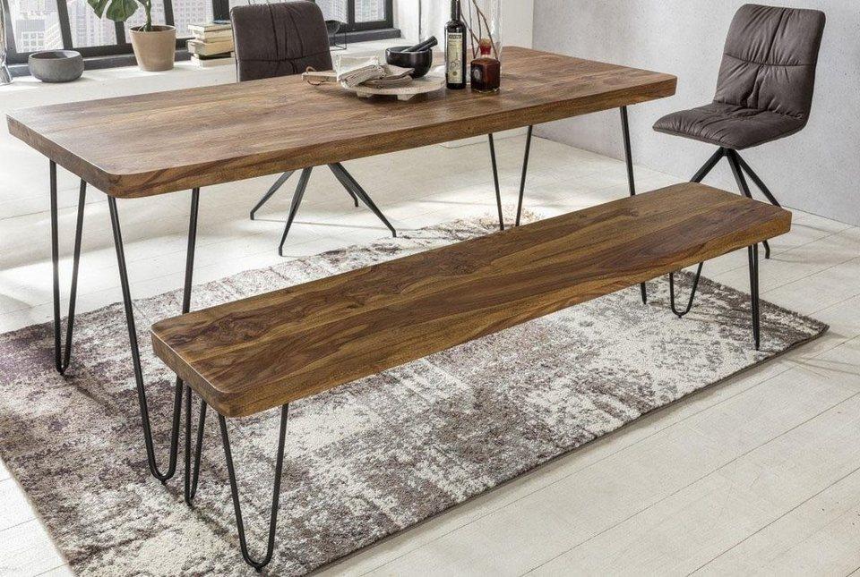 home affaire sitzbank surya aus massivholz und metall online kaufen otto. Black Bedroom Furniture Sets. Home Design Ideas