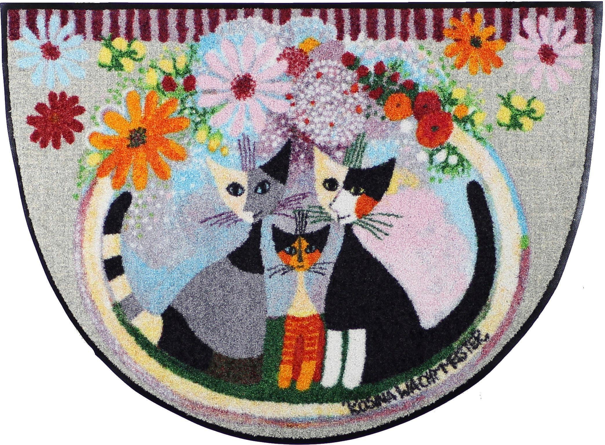 Fußmatte »Famiglia conFiore«, Rosina Wachtmeister, halbrund, Höhe 7 mm