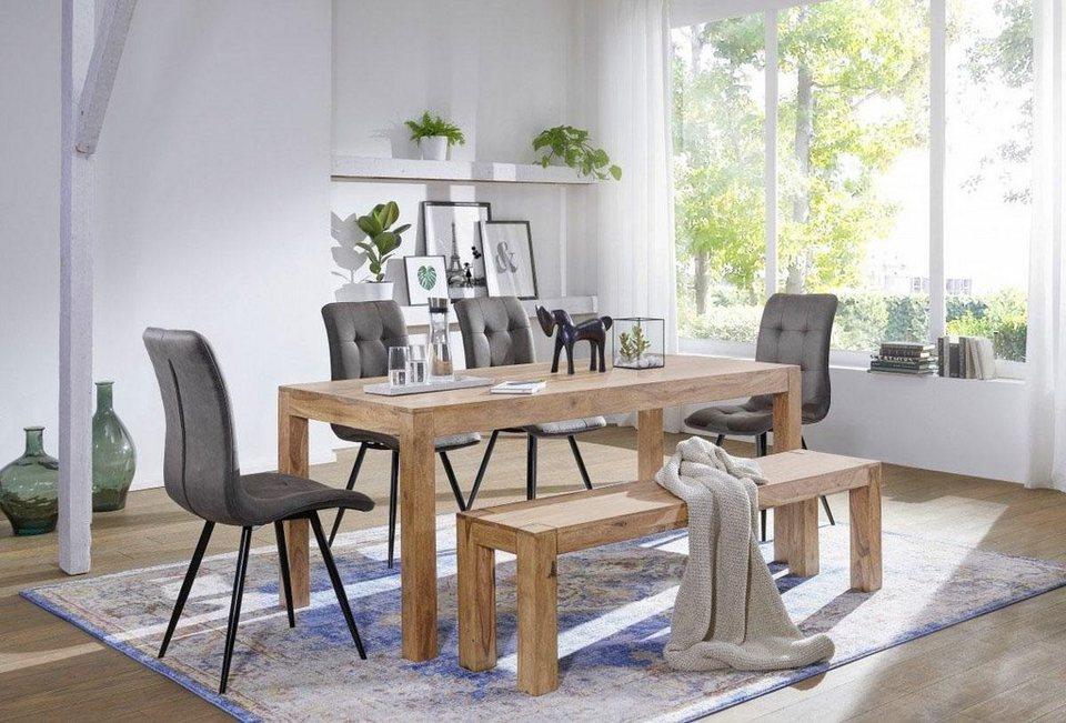 home affaire esstisch chandan 120 cm breit aus massivem. Black Bedroom Furniture Sets. Home Design Ideas