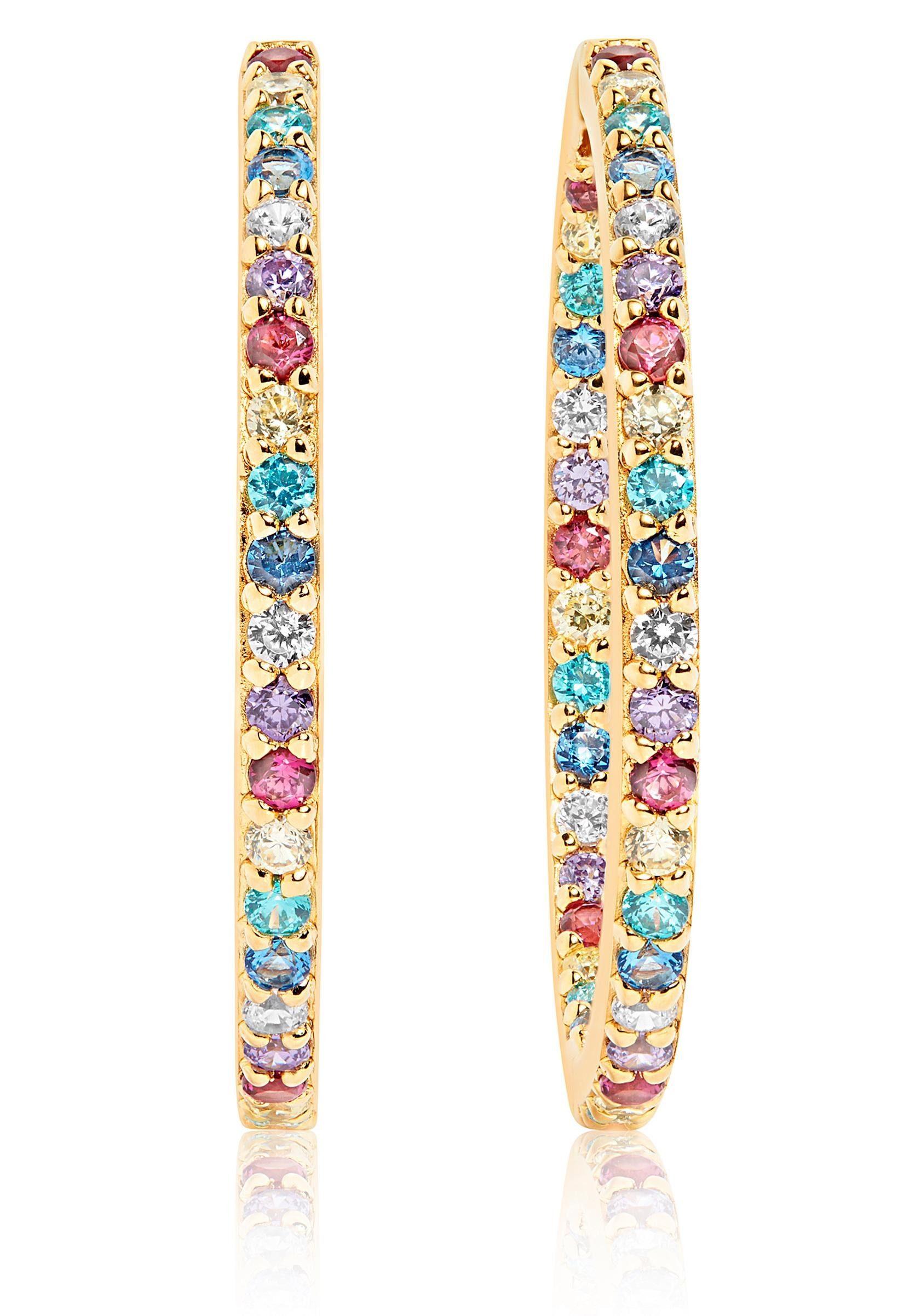 Sif Jakobs Jewellery Paar Creolen »Bovalino earrings, SJ-E1790-XCZ(YG)« mit Zirkonia