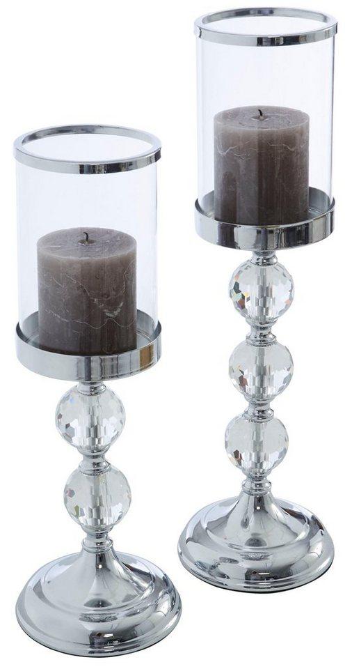 gmk home living kerzenst nder aus metall und glas online kaufen otto. Black Bedroom Furniture Sets. Home Design Ideas