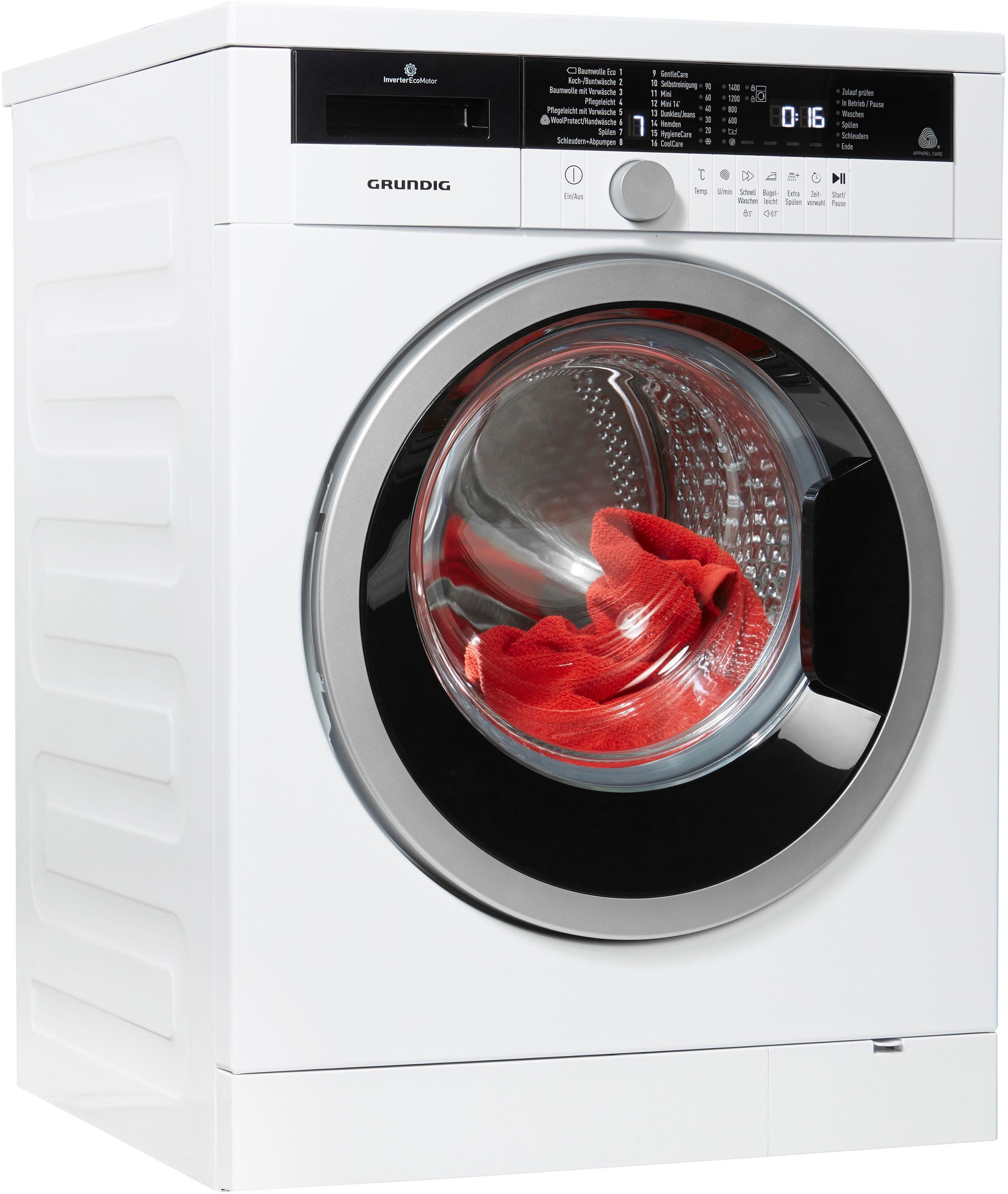 Grundig Waschmaschine GWA 38431, 8 kg, 1400 U/Min, Stiftung Warentest GUT (2,0)