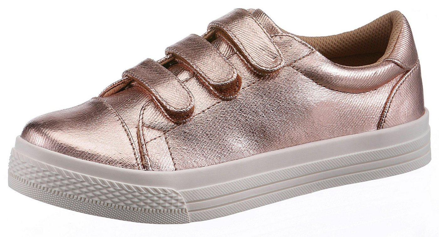 Damen Arizona  Klettschuh mit glänzendem Obermaterial rosa | 04895109714622
