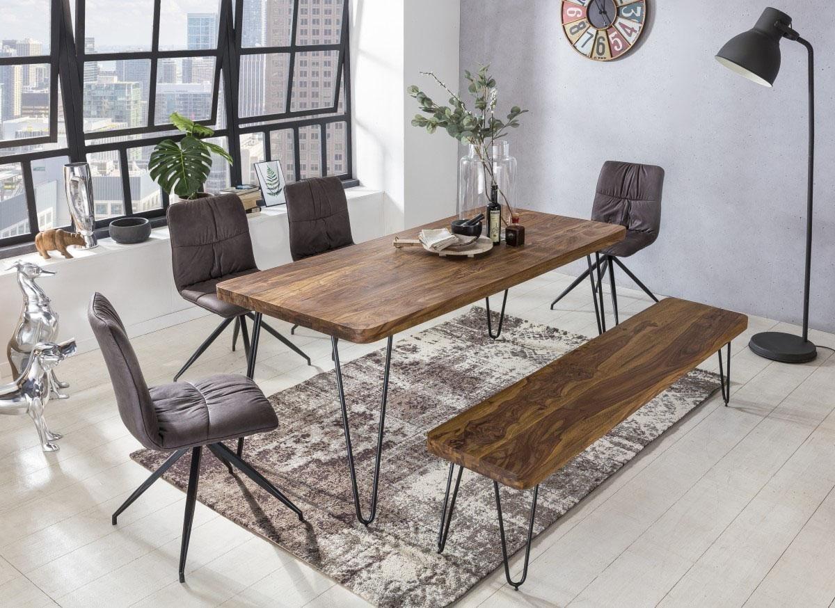 Home affaire Esstisch SURYA mit Massivholz-Tischplatte braun | 04250950222977