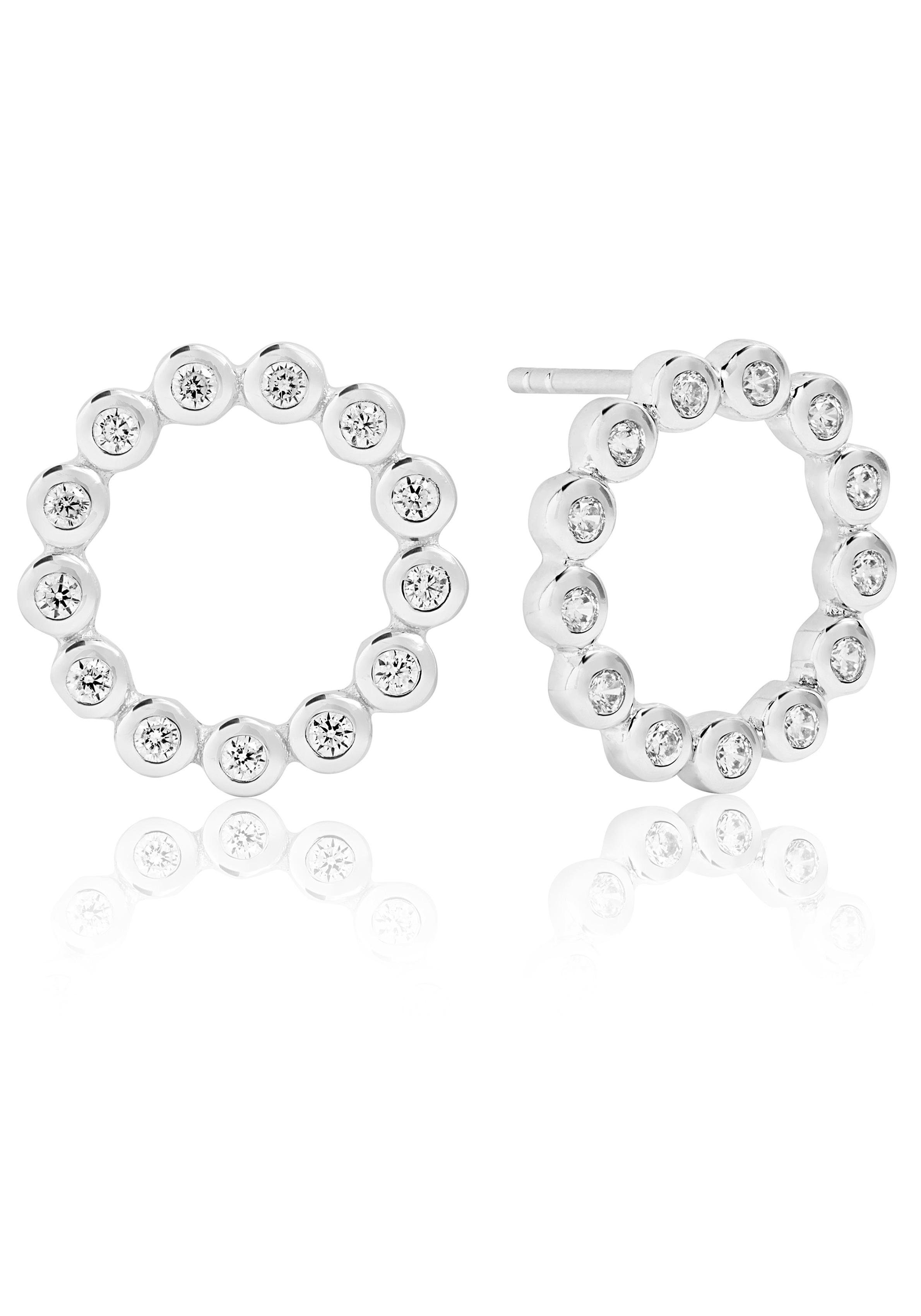 Sif Jakobs Jewellery Paar Ohrstecker »Sardinien circolo piccolo earrings, SJ-E2688-CZ« mit Zirkonia
