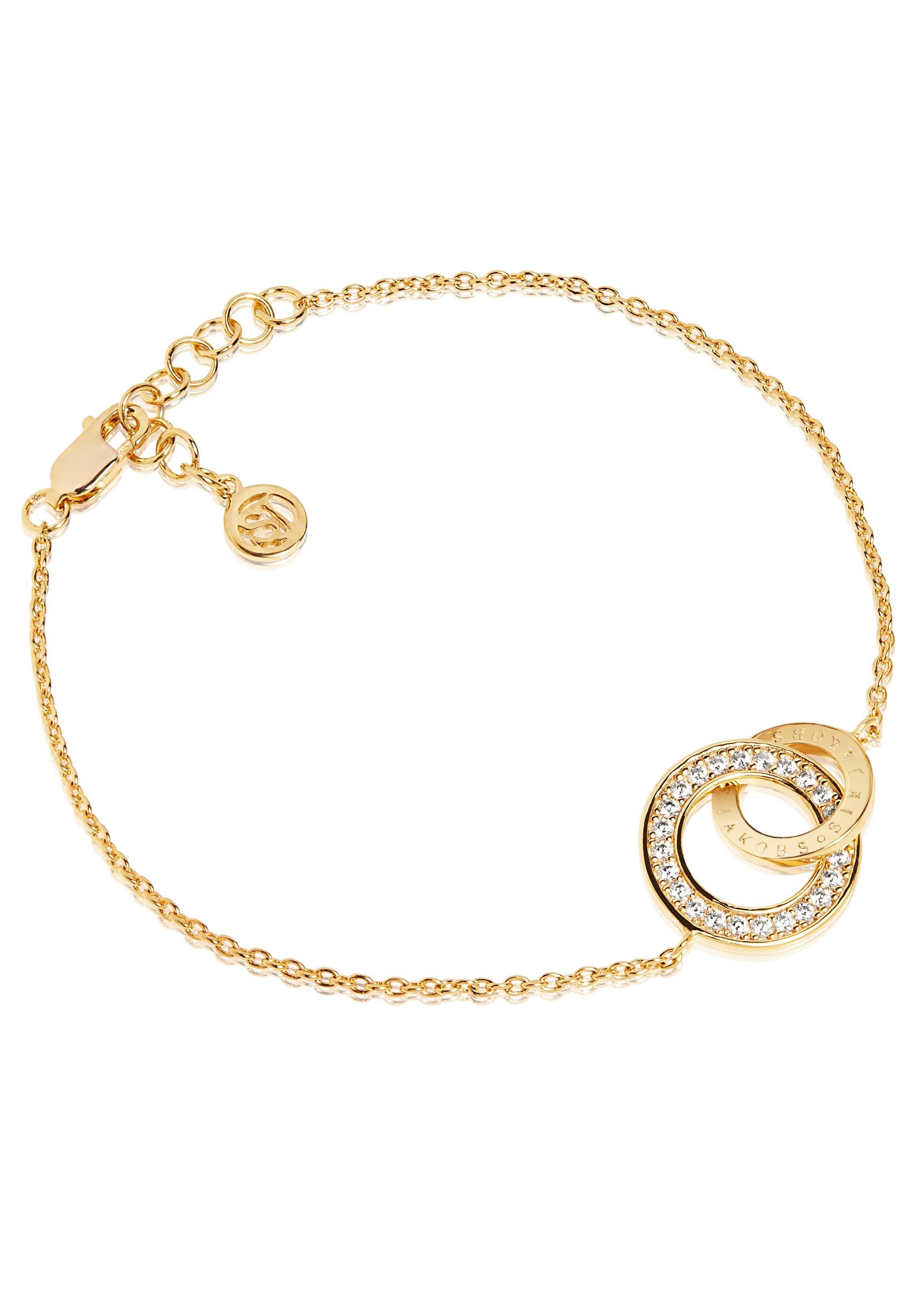 Sif Jakobs Jewellery Armband »Prato uno piccolo bracelet, SJ-B472-CZ(YG)« mit Zirkonia