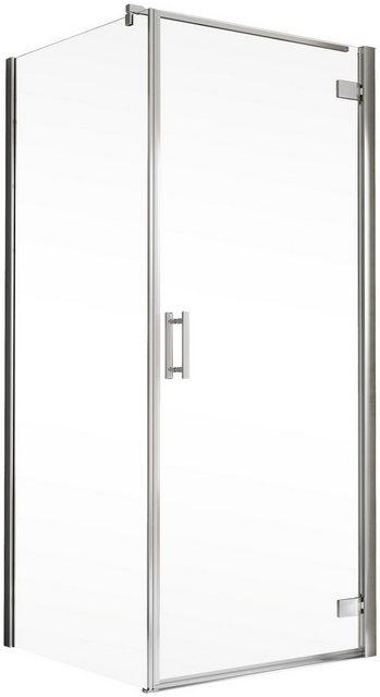 Duschen und Zubehör - Schulte Eckdusche »Toura«, BxT 100x100 cm, Einscheibensicherheitsglas, Höhe inklusive Stabilisationsbügel 2040 mm  - Onlineshop OTTO